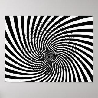 Arte de Op. Sys., ilusión óptica 5 Poster