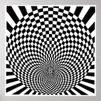 Arte de Op. Sys., ilusión óptica Impresiones