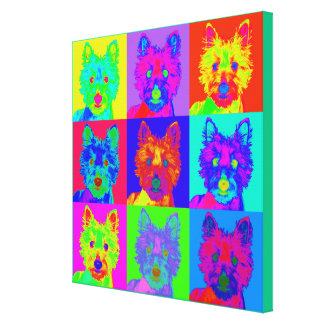 Arte de Op. Sys. - montaña del oeste Terrier Impresión En Lona Estirada