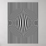 Arte de Op. Sys. que bombea las rayas verticales b Posters