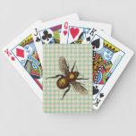 Arte de oro de la abeja barajas de cartas