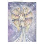 Arte de oro de la fantasía del ángel del ala tarjeta
