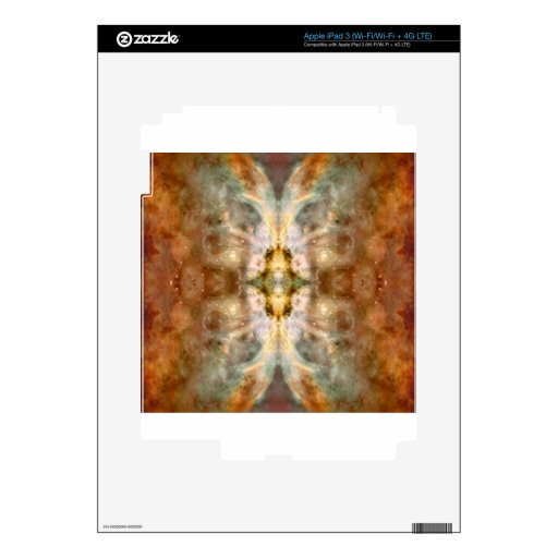 Arte de oro de lujo de ButterflySpace Pegatinas Skins Para iPad 3