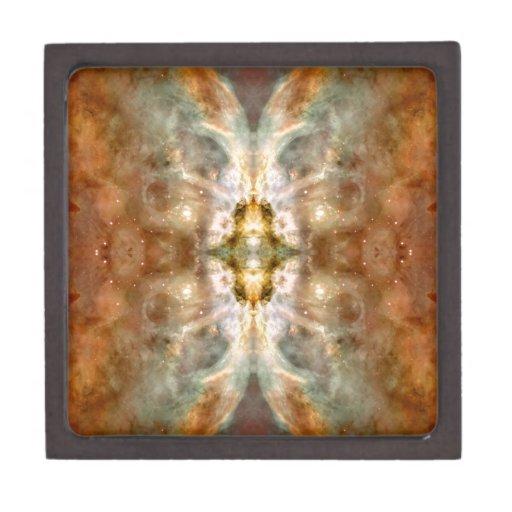 Arte de oro de lujo del espacio de la mariposa caja de recuerdo de calidad