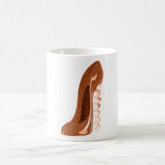 Arte de oro del zapato del estilete del sacacorcho tazas
