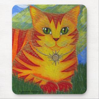 Arte de oro Mousepad de la fantasía del gato de