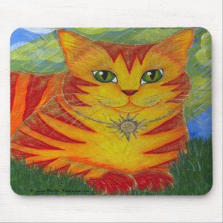 Arte de oro Mousepad de la fantasía del gato de Su Tapete De Ratón
