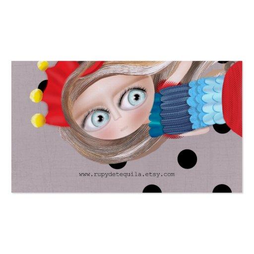 Arte de papel de la muñeca plantilla de tarjeta personal
