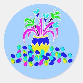 Arte de Pascua Pegatina Redonda