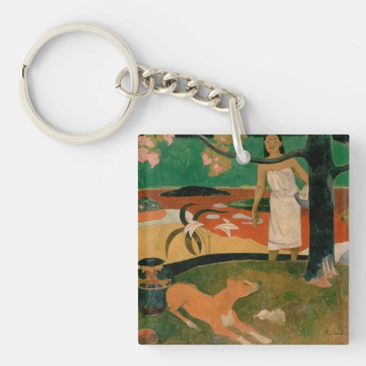 arte de Paul Gauguin Llavero Cuadrado Acrílico A Una Cara