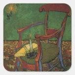 arte de Paul Gauguin Calcomania Cuadradas Personalizada