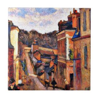 Arte de Paul Gauguin: Ruda Jouvenet, Ruán Azulejo Cuadrado Pequeño