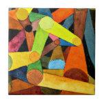 Arte de Paul Klee - acuarela abierta de la montaña Tejas
