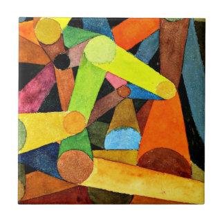 Arte de Paul Klee - acuarela abierta de la montaña Azulejo Cuadrado Pequeño