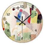 Arte de Paul Klee: Acuarela patética, roja Reloj De Pared