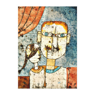 Arte de Paul Klee: Adán y pequeña Eva Impresiones De Lienzo