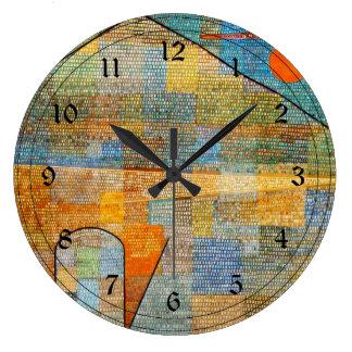 Arte de Paul Klee: Anuncio Parnassus Reloj Redondo Grande
