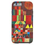 Arte de Paul Klee: Castillo y Sun, pintura de Klee Funda De iPhone 6 Tough