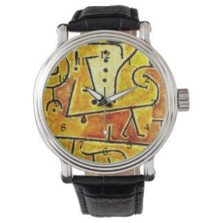Arte de Paul Klee: Chaleco rojo, pintando por Klee Reloj