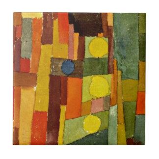 Arte de Paul Klee: En el estilo de Kairouan Azulejo Cuadrado Pequeño