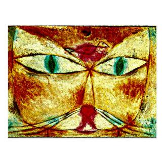 Arte de Paul Klee: Gato y pájaro Postales