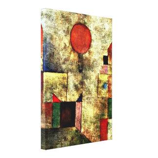 Arte de Paul Klee: Globo rojo Lona Estirada Galerías