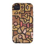 Arte de Paul Klee iPhone 4 Carcasas