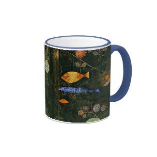 Arte de Paul Klee: Magia de los pescados, pintura Taza De Dos Colores