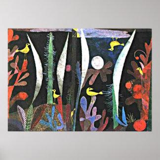 Arte de Paul Klee: Paisaje con los pájaros amarill Impresiones