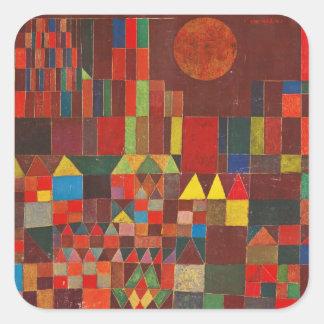 Arte de Paul Klee Calcomanía Cuadradase