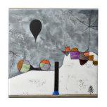 Arte de Paul Klee: Pintura del invierno Azulejo Cerámica