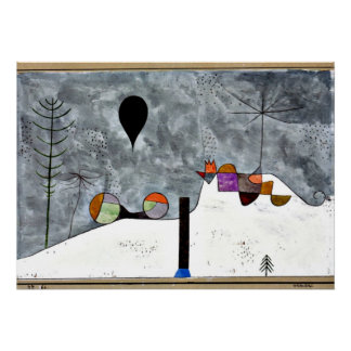 Arte de Paul Klee: Pintura del invierno Poster