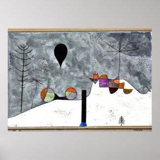Arte de Paul Klee: Pintura del invierno Póster