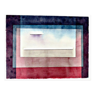 Arte de Paul Klee: Reclinación, pintando por Paul Postal