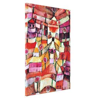Arte de Paul Klee: Rosaleda, pintura famosa de Kle Impresión De Lienzo