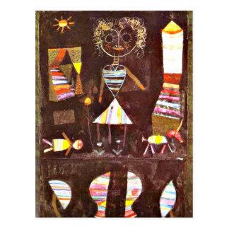Arte de Paul Klee: Teatro de la marioneta Tarjeta Postal
