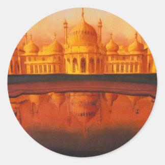 """Arte de """"Pavillion real"""" el Taj Mahal Pegatina Redonda"""