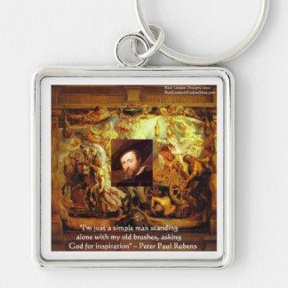 Arte de Peter Paul Rubens y regalos y tarjetas de  Llavero Cuadrado Plateado