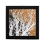 Arte de plata del árbol de aliso cajas de joyas