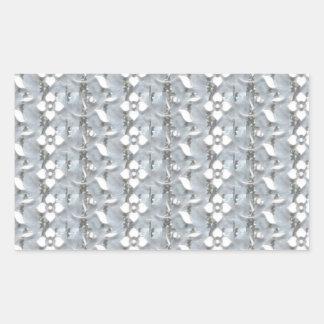 Arte de plata NVN171 NavinJOSHI de la secuencia de Pegatina Rectangular