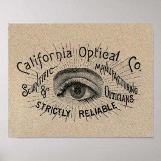 Arte de publicidad antiguo del ojo