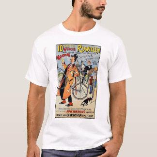 Arte de publicidad de la bicicleta del vintage playera