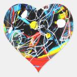Arte de Quinche Pegatina En Forma De Corazón