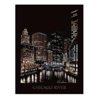Arte de Randsom de la bella arte del río Chicago Tarjetas Postales