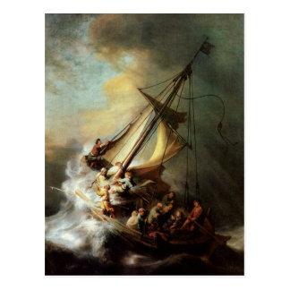 Arte de Rembrandt que pinta a Cristo en la Postal