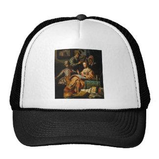 Arte de Rembrandt que pinta alegoría musical Gorros