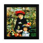 Arte de Renoir: Dos hermanas en la terraza Joyero Cuadrado Grande