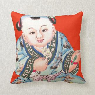 Arte de risa rojo chino lindo del asiático de Buda Almohadas