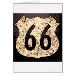 arte de route-66-road-sign felicitación