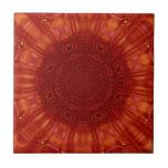 Arte de rubíes rojo metálico de la joya azulejo